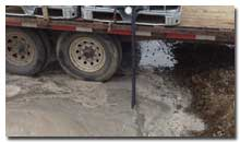 Exposed aggregate cement water recaptured