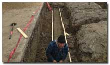 Tieing rebar in footing